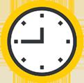 Icon of a clockface